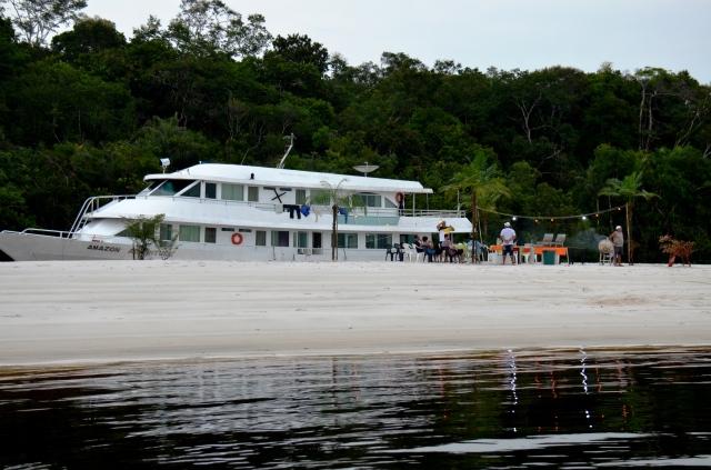 fishing boat on the amazon